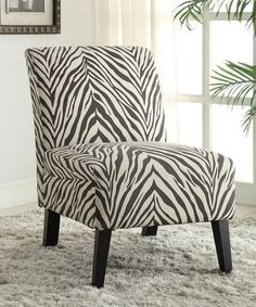 Another great find on #zulily! Zebra Lily Linen Chair by Linon Home #zulilyfinds