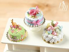 Paris Miniatures: New Miniature Easter Cakes on Etsy Today