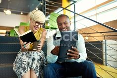 Two Creative Millenial Small Business Owners Working On Social Media stock photo 594460706 | iStock
