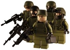 Army Force - 5 Man Squad - Customised Lego Army Figures