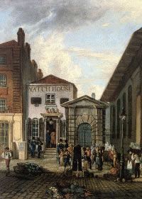 Covent Garden watchhouse. Image @The Proceedings of the Old Bailey