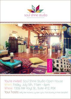 Manifesting a circle of women to create a space like this!!! SoulShine_Invite2 by kelly rae roberts, via Flickr