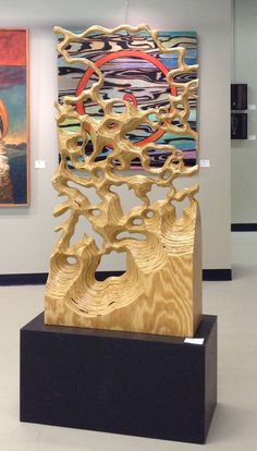 mundane transformed into exotic,A plywood piece. How To Make Wood Art ? Wood art is generally the task of surrounding about and inside, provided the surface of anything is flat. Plywood Art, Plywood Projects, Art Projects, Wooden Art, Wood Wall Art, Wood Sculpture, Sculpture Painting, Art Sculptures, Brainstorm