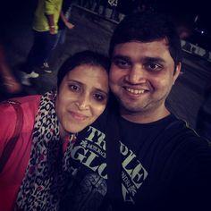 Night by bay #marinedrive #mumbai #nightout #bikeride