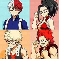 Bakugou with glasses gives me life