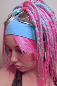 Pastel #Goth girl with dreads