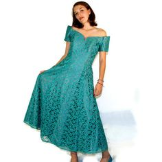 Vintage Dress in Turquoise by xoUda on Etsy, $54.00