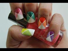Decoracion de uñas colores de la primavera / Nail art spring colors - YouTube