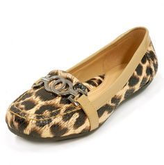 Leopard Flats with Metal Detailing.