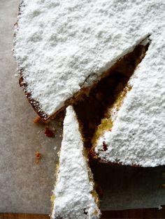 Banana & Coconut Polenta Cake