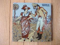 My Pretty Maid Illustration by Walter Crane on Mosaic Tile