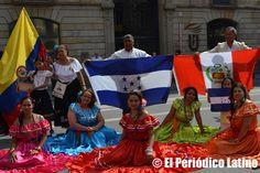 Participación latina en la Misa de la Merced en Drassanes BCN