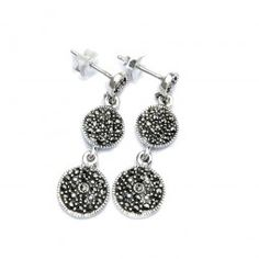 Marcasite Silver Earrings - For a stylisch vintage style