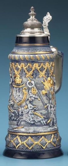 2.5L JOUSTING STEIN - Authentic Beer Steins from Germany - 1001BeerSteins.com