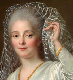 Portrait de Jeune Femme (Détail) François Hubert Drouais . 1767