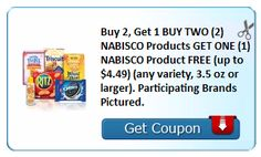 High Value B2G1 Nabisco Coupon Is Back!!! Don't Miss It!!! | KouponingWithKatie