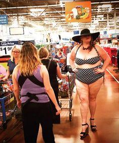 Black and White Polka Dot Bikini at Walmart - Funny Pictures at Walmart