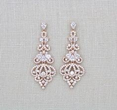 Boucles doreilles de mariage en cristal boucles par treasures570