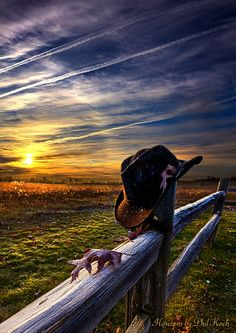 Horizons by Phil Koch. image by Phil Koch. Discover all images by Phil Koch. Find more awesome sunset images on PicsArt. Country Fences, Cowboy Art, Le Far West, Old West, Western Art, Best Photographers, Image Photography, Rustic Photography, Amazing Photography