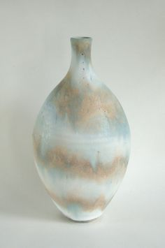Stoneware bottle - coloured clay, copper and cobalt. Cobalt, Stoneware, Glaze, Pots, Copper, Ceramics, Bottle, Decor, Enamel