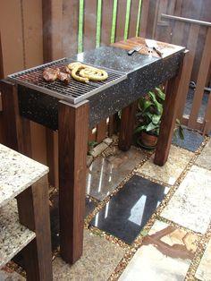 diy modern granite grill