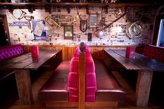 Sports bar interior at The Golf Tavern. Interior design by Tibbatts Abel
