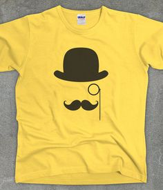 Mustache Monocle funny shirt unisex men's women's by TeeRiot, $14.95 #hipster