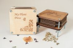 Flower Press, Personalized Plant Press, Wood, Customized, Laser Engraved Flower Press, Personalized Birthday Gift, AK Laser. $22.95, via Etsy.