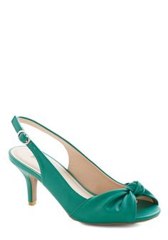 Some Like it Knot Heel in Emerald, #ModCloth to go with wedding renewal dress