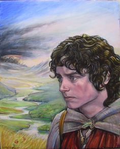 Elijah Wood as Frodo, on the way to Mordor by Hisstah ~ LOTR