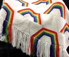 PDF Pattern - Rainbow Afghan/Blanket - @Anne Hedges-Moss Make this for me for St. Patrick's day. I'll pay you!