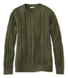 Find the best Women's Double L® Mixed-Cable Sweater, Crewneck at L. Our high quality Women's Sweaters are thoughtfully designed and built to last season after season. Sweater Shirt, Cable Knit Sweaters, Cozy Sweaters, Cotton Sweater, I Fall To Pieces, Cool Outfits, Casual Outfits, Classy Outfits, Pretty Outfits