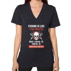 Fishng Mafia V-Neck (on woman)