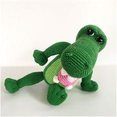 Crocodile crochet pattern amigurumi pdf tutorail in by Alinies