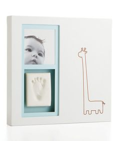 This White Modern Babyprints Frame Set by Pearhead is perfect! #zulilyfinds