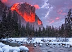 Yosemite Valley, California in the winter!