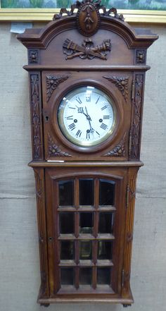 Working German Wall Clock, Circaa 1890 - Booth 33ha, (On Sale) $900.00.