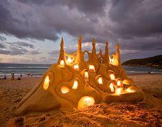 ¡el castillo de arena!