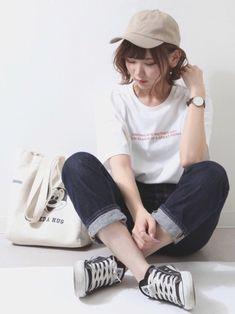 Korea Fashion, Asian Fashion, Sport Fashion, Girl Fashion, Womens Fashion, Girl Outfits, Cute Outfits, Fashion Outfits, Pose Reference Photo