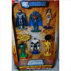 cake topper DC Universe Justice League Unlimited Attack of the Justice Lords 6 Pack 027084783421 on eBid United States