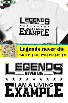 Legends never die, I'm a living example SVG cuttable quote. Compatible with cutting machines like Silhouette, Cricut, SCAL etc. as well as vinyl cutters and laser cutters. Ideas for using our designs: • Vinyl decals for mugs, acrylic blanks, tumblers, glasses, walls, cars etc. • HTV decals for T-shirts, pillows, tote bags, garden flags, towels, etc. • Vinyl stencils for wood signs, canvas art, etc. • Cutouts for card making, paper crafts, scrapbooking etc. Funny Shirt Sayings, Shirts With Sayings, Funny Shirts, Funny Quotes, Legends Never Die Quote, Legend Quotes, Stencils For Wood Signs, Father's Day, Fathers Day Quotes