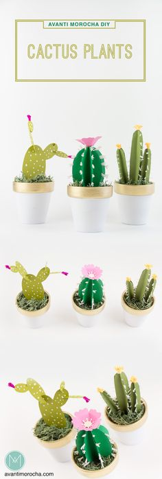 DIY Cactus Plants – Paper | Homedecor | Kids' room | party favors | AvantiMorocha Blog