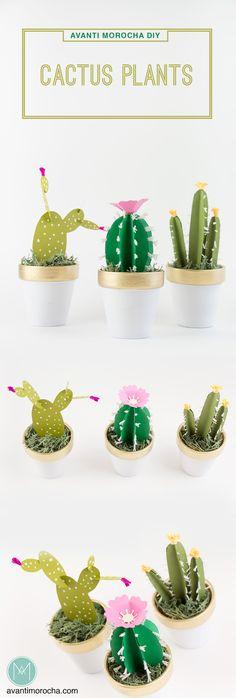 DIY Cactus Plants – Paper | Homedecor | Kids' room | party favors | AvantiMorocha Blog