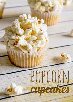 Popcorn Cupcake-the cheater way is to make vanilla cupcakes topped with crunch and munch (bake in a square cupcake pan and make the paper cover look like a movie popcorn container- so doing this