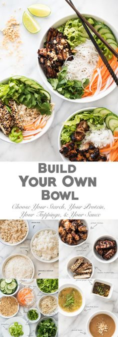 Entertaining? Let your guests build their own bowl!