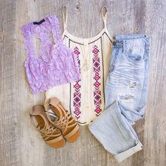 Devina Lace Bralette - Lilac
