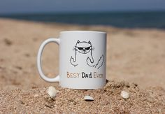 Dad Birthday Mug Gift for Dad from Daughter Father's Day Funny Gift Best Dad Ever Quote Mug with Sayings Unique Cup Gift Cat Coffee Mug