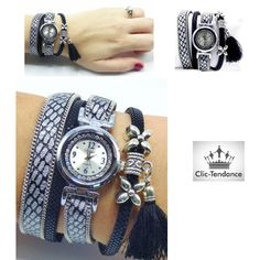 Montre Femme Multi-rangs Casual Silver de la boutique www.clic-tendance. 0fb26bafb54