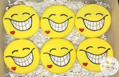 Smiley Face Emoji Cookie Favors  - 1 DOZEN (12 Cookies)
