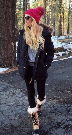 40 Casual Winter Outfits Ideas for 2019 40 Ideen für lässige Winteroutfits für 2019 . Winter Outfits For Teen Girls, Preppy Winter Outfits, Cold Weather Outfits, Winter Fashion Outfits, Autumn Winter Fashion, Winter Snow Outfits, Snow Outfits For Women, Winter Snow Boots, Cute Camping Outfits